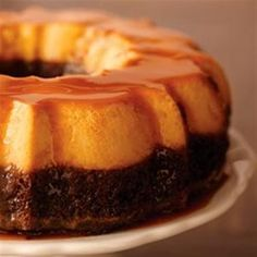 Flan Cake - Allrecipes.com ... I used butter cake mix in lieu of chocolate mix. Lets see how this goes ...