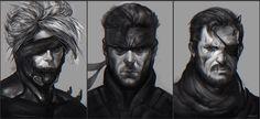 Metal Gear Solid Fan-art by DanarArt on DeviantArt 2014 Anime, Metal Gear Rising, Gear Art, Metal Gear Solid, Amazing Art, Gears, Concept Art, Statue, Portrait