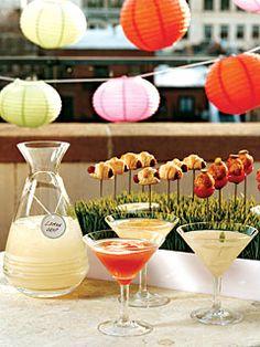 Madras-tini...vodka, cranberry juice, orange juice..tangerine slices to garnish