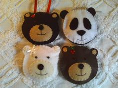 Bears of the World Felt Ornament Set by EnchantedForestCraft, $24.00
