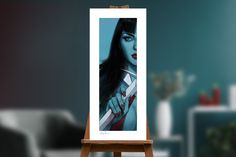 Vampirella & Red Sonja: Vampirella Art Print by Ben Oliver | Sideshow Fine Art Prints Ben Oliver, Embossed Seal, Upcoming Series, Red Sonja, Artist Signatures, Sideshow Collectibles, Iconic Characters, Ghost Rider, Cool Tones