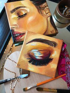 Acrylic Portrait Painting, Acrylic Art, Portrait Art, Cool Art Drawings, Art Drawings Sketches, Harry Styles Drawing, Gcse Art Sketchbook, Learn Art, Eye Art