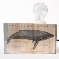 Table lamp. Humpback whale. Wood table lamp. Medium size. Driftwood lamp. Modern lighting. Wooden lamp. Reclaimed wood. from Railis Design of Iceland for $89.00 on Square Market