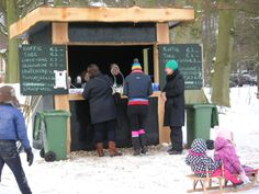 """A """"Koek & Zopie"""" stand on the ice. Here you can buy hot chocolate and pea soup. Places To Travel, Netherlands, Holland, Dutch, Pea Soup, Windmills, Hot Chocolate, The Nederlands, The Nederlands"""