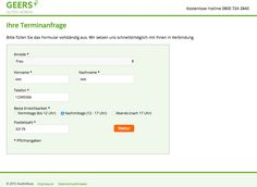 Geers appointment landingpage