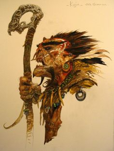 KUJIN, ORC SHAMAN, BY ADRIAN SMITH (concept for ubisoft 'might and magic')
