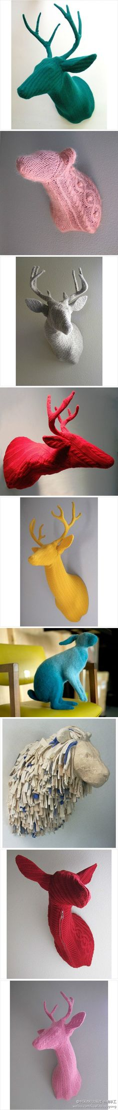 Cable Knit Taxidermy Must share w/ Jim F.!