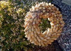 Wine Cork Wreath  Perfect for Wine Lovers by Corkycrafts on Etsy, $28.95