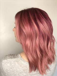 The perfect blunt bob and pink hair for fall! Guy Tang 6mr base with a mother of Joico and Pulp Riot through the ends. -Courtney Munson @ Avenue Salon in Ogden, UT #pinkhair #bluntbob
