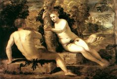 Adam and Eve by TINTORETTO #art