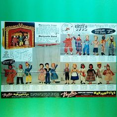 1956 Hazelles Marionettes product brochure arrived in the mail this week. I was disappointed that it wasn't in very good condition, but at least I have one until one in better condition becomes available.