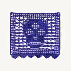 Day of the Dead DIY crochet papel picado