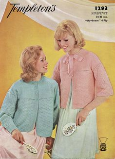 Ladies Bed Jacket Templeton's Vintage by NostalgiaPatterns on Etsy