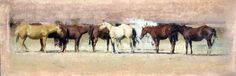 A_row_of_autumn_horses  micahel workman.  One of my favorite pieces of his