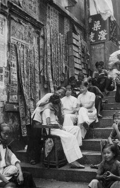 四十年代香港街頭。