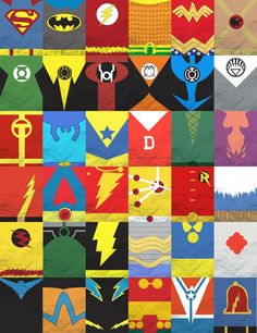 This DC Comics Minimalist Poster by Dustin Koetsch, is really easy to understand as it is just the superheros costumes that you can identify them quickly. Description from pinterest.com. I searched for this on bing.com/images