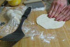 Pressing out Tortilla Shells
