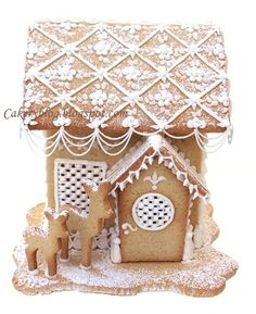 Royal Icing gingerbread house by PiaMarianne, via Flickr
