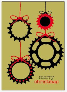 bicycle-themed Christmas cards or ornament ideas!