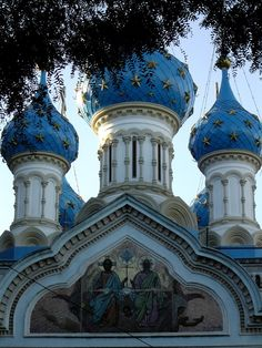 Five towering sky-blue cupolas adorn the first Russian Orthodox Church built in Latin America, in 1904! Venetian mosaics, stained glass, and icons sent from St. Petersburg by Czar Nicholas II and Czarina Alexandra adorn the Church.
