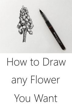 Easy Flower Drawing Tutorial Learn how to draw any flower you like with this easy step-by-step guide for creating beautiful art with pen and ink. A social network hit for ALL levels. Easy Flower Drawings, Flower Drawing Tutorials, Easy Drawings, Art Tutorials, Flower Tutorial, Makeup Tutorials, Drawing Skills, Drawing Lessons, Drawing Techniques