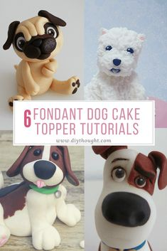 fondant Create a dog lovers dream cake with these 6 fondant dog cake topper tutorials. Cake decorating can be overwhelming but the great thing about creating fondant cake toppers is they can Fondant Baby, Bolo Fondant, Fondant Cake Toppers, Fondant Icing, Fondant Cakes, Cupcake Cakes, Cupcakes, Dog Cake Topper, Cake Topper Tutorial