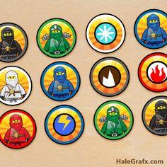 FREE Printable LEGO Ninjago Cupcake Toppers