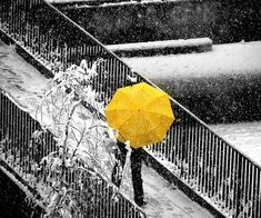 Luminosity- this shows the main feature in the picture as a bright yellow to make the umbrella stand out against the black and white background