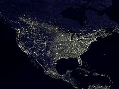 The Night Lights of the United States (as seen from space)