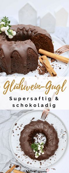 This mulled wine cake is so juicy! ° A Guglhupf with Schwip .-So saftig, dieser Glühwein-Kuchen! ° Ein Guglhupf mit Schwipps und vieeel Schokolade Guglhupf recipe: make mulled wine cake with chocolate yourself - Pound Cake Recipes, Cupcake Recipes, Snack Recipes, Dessert Recipes, Dessert Simple, No Bake Chocolate Desserts, Cake Chocolate, Pavlova, Easy Sweets