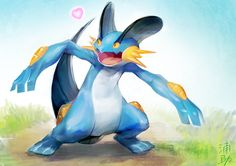 Happy Swampert. #Pokemon #Swampert Pokemon Pocket, Pokemon 20, Hoenn Region, Mudkip, Chibi, Pikachu, Anime, Disney Characters, Artist