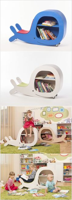 Whale Bookshelves for the kids' room