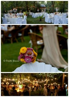 Floral arrangements for wedding in the secret wood