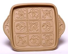 Alpine Flowers Shortbread Pan: Made in the USA | Emerson Creek Pottery