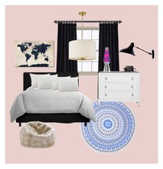 """Untitled #80"" by xx17blackx on Polyvore featuring interior, interiors, interior design, home, home decor, interior decorating, Trademark Fine Art, Design Within Reach and Kate Spade"