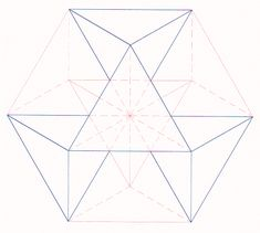 Tetrahedral structure of the Vector Equilibrium (tetrahedral explosion eight fold in four directions).