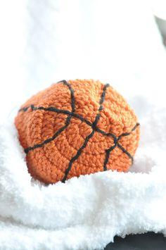 Crochet photo prop baby basketball hat by KnittingInStyle on Etsy, $12.00