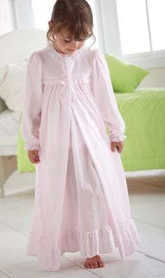 Such a cute nightgown and robe. Nightgown could be made with Carla C Portrait peasant dress pattern... not sure about robe.
