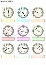 Elementary School worksheets What time is it? for kids 16 What Time Is, School Worksheets, Exercise For Kids, Elementary Schools, Clock, Activities, Watch, Primary School, Clocks