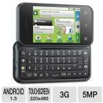"Motorola Backflip Moto BF MB300 BLK Unlocked Cellphone - 3G, Android OS, QWERTY Keyboard, 3.1"" Touchscreen, 5MP Camera, LED Flash, WiFi Ready, Bluetooth, MicroUSB 2.0, Black"