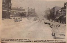 Blizzard of 1978. Wheeling Avenue, facing west, between North 10th and North 9th Streets.