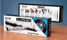 The Clarineo...easy way to teach kids how to play clarinet. Works as an actual functioning instrument.