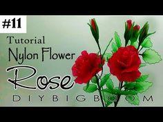 Nylon stocking flowers tutorial 11, How to make nylon stocking flower step by step - YouTube