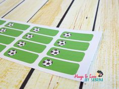 Soccer Game Planner Sticker  Size Customize-able by HugsLove