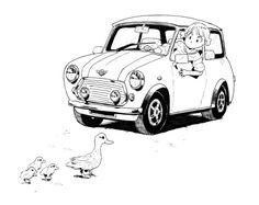 A Website Creation Guide For Creating Spectacular Compelling Websites Car Illustration, Ink Illustrations, Character Illustration, Car Drawings, Cute Cars, Drawing Skills, Cultura Pop, Art Challenge, Manga