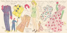 """Kathie,"" a paper doll by Lucy Eleanor Leary, Boston Sunday Post"