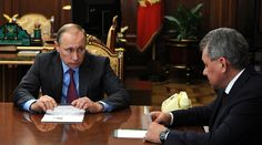 Putin orders start of Russian military withdrawal from Syria, says 'objectives achieved'  http://pronewsonline.com Russian President Vladimir Putin and Defense Minister Sergey Shoigu © kremlin.ru