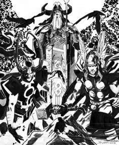 Thor, Loki, & Odin by John Paul Leon