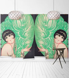 Sample Mirrored Burlesque Wall Mural from the Erstwhile Collection by Milton & King