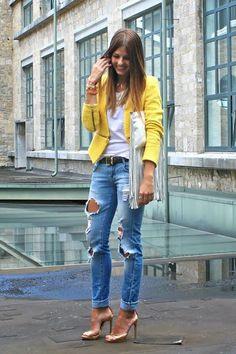 Boyfriend & stilettos ¡combinación perfecta!